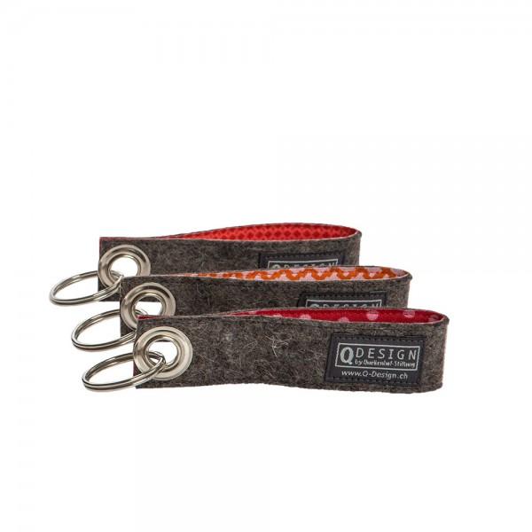 Schlüsselanhänger (3-tlg. rot assortiert)
