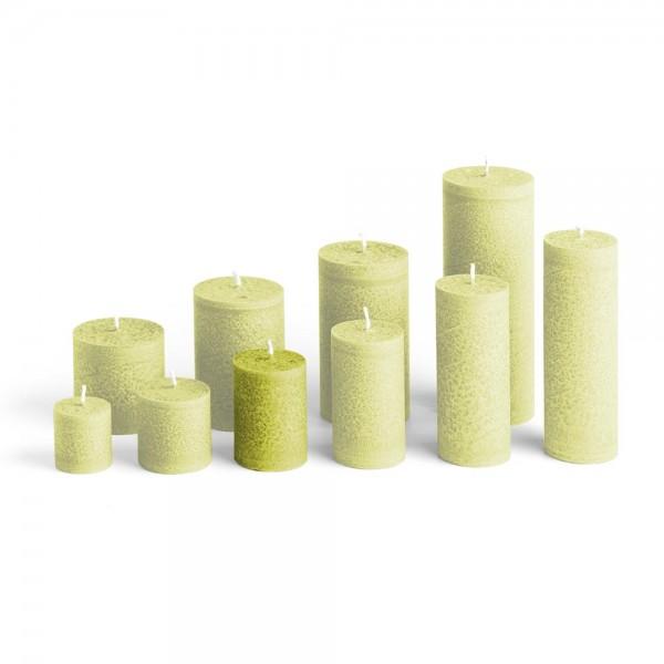 D07023 - Blockkerze hellgrün, Durchmesser 50mm, Höhe 70mm