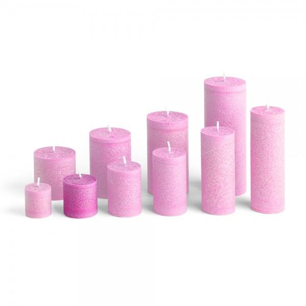 D05013 - Blockkerze pink, Durchmesser 50mm, Höhe 50mm