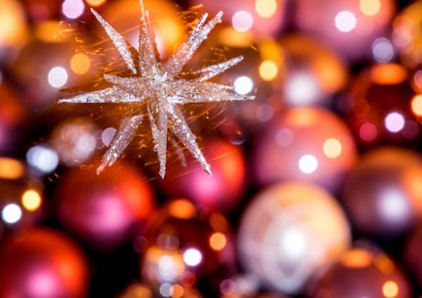 Doppelkarte Sternschnuppen Weihnachten