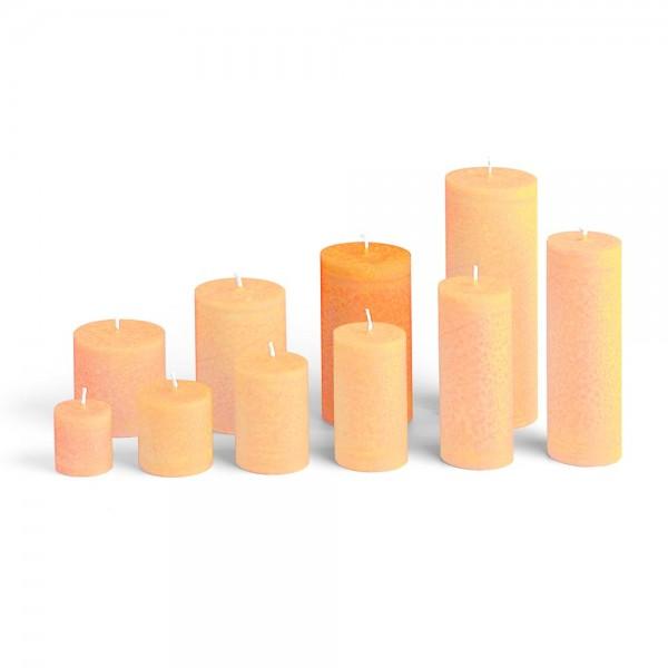 E12018 - Blockkerze orange, Durchmesser 65mm, Höhe 120mm