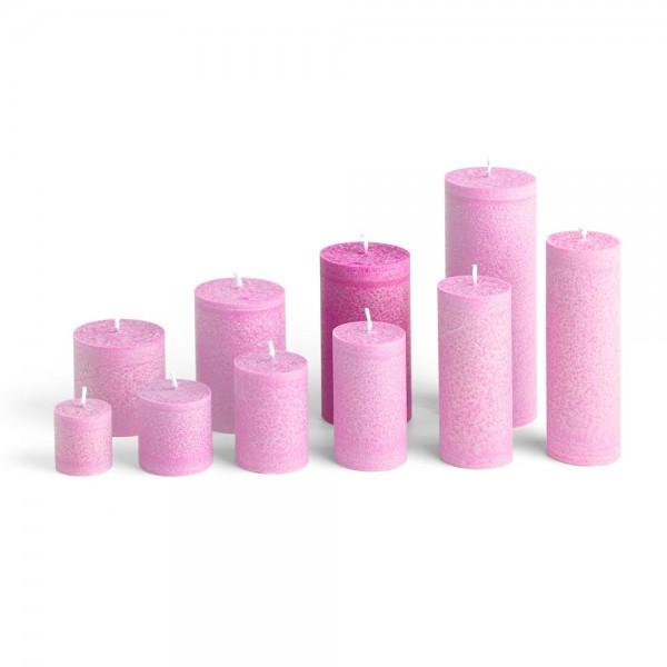 E12013 - Blockkerze pink, Durchmesser 65mm, Höhe 120mm