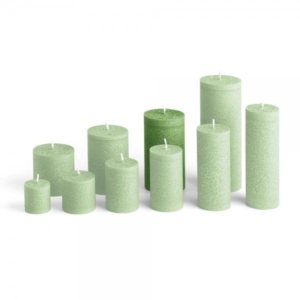 E12024 - Blockkerze tannengrün, Durchmesser 65mm, Höhe 120mm