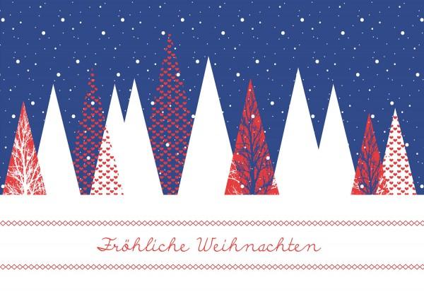 Weihnachtskarte - Verschneit