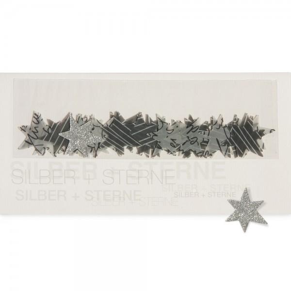 """909997 - Tischdekokarte """"Silber + Sternel"""""""