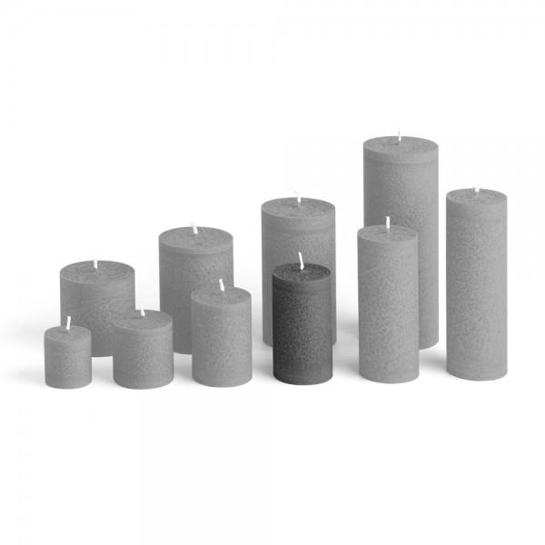 D09027 - Blockkerze anthrazit, Durchmesser 50mm, Höhe 90mm