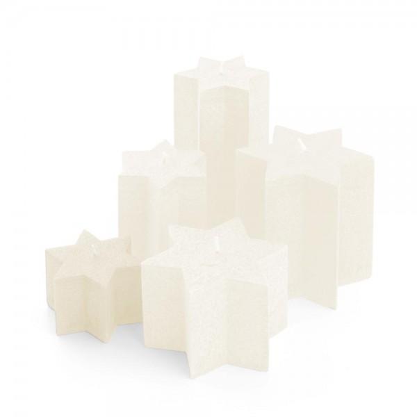 K06021 - Sternkerzen crème, Durchmesser 100mm, Höhe 60mm