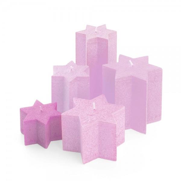 K06013 - Sternkerzen pink, Durchmesser 100mm, Höhe 60mm