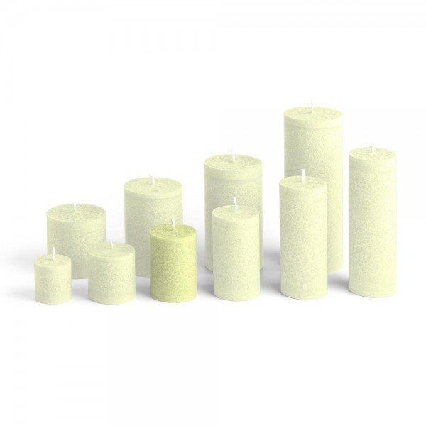 D07022 - Blockkerze lindengrün, Durchmesser 50mm, Höhe 70mm