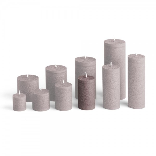 D09026 - Blockkerze braun, Durchmesser 50mm, Höhe 90mm