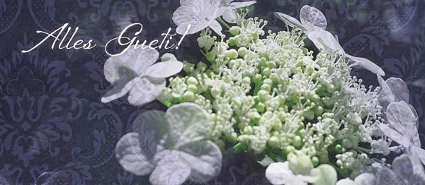 910605 - Windlichtkarte: Alles Gueti (Blüte weiss)
