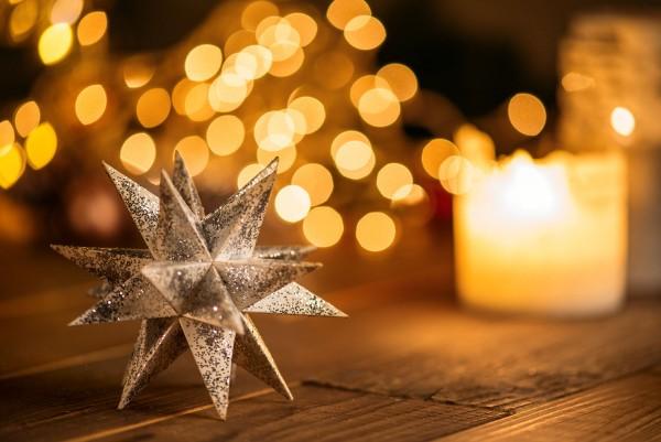 Weihnachtskarte - Sternstaub