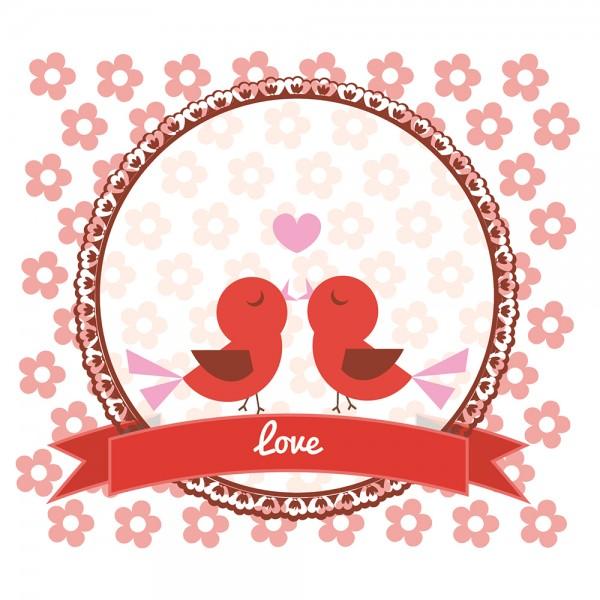 910485 - Perlenkarte Love-rot
