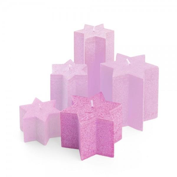 M08513 - Sternkerzen pink, Durchmesser 135mm, Höhe 85mm