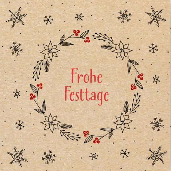 Weihnachtskarte - Natur-Festtage 1