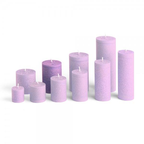 E09510 - Blockkerze violett, Durchmesser 65mm, Höhe 95mm