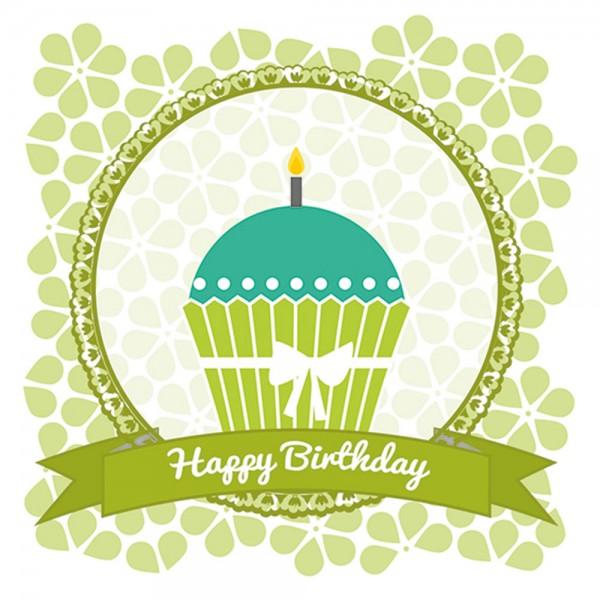 910459 - Perlenkarte Geburtstag-grün