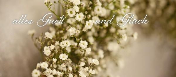 910767 - Windlicht (3 Stk.): Alles Gueti und Glück (Blütenmeer weiss)
