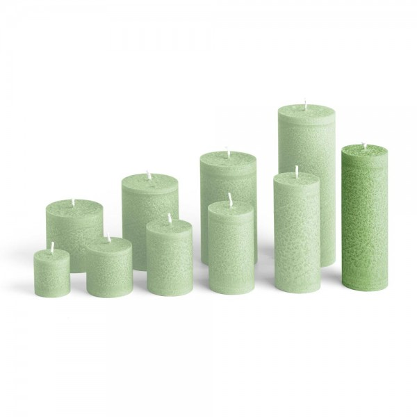 D15024 - Blockkerze tannengrün, Durchmesser 50mm, Höhe 150mm