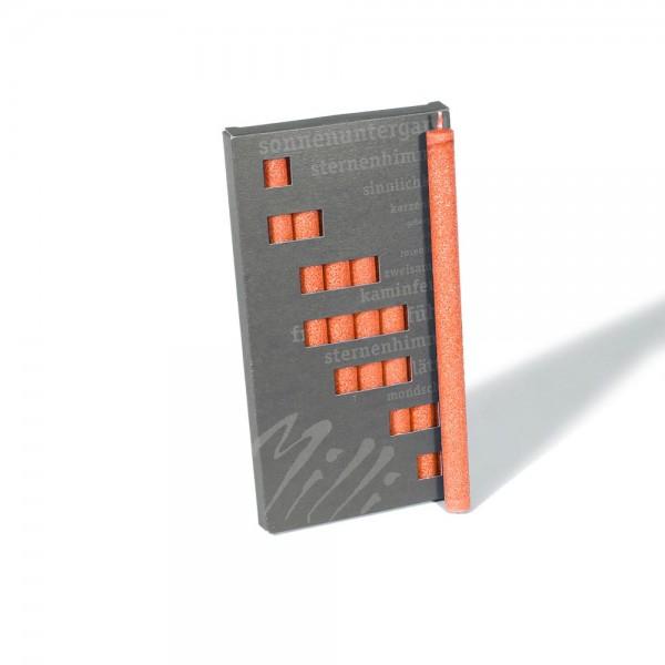 P19018 - Partykerzen Milli, orange, Durchmesser 12mm, Länge 190mm