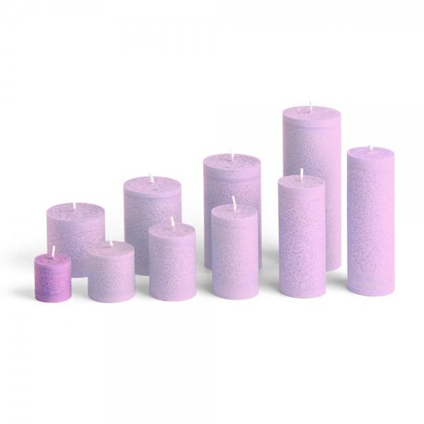 C04010 - Blockkerze violett, Durchmesser 38mm, Höhe 40mm