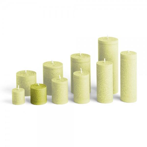 D05023 - Blockkerze hellgrün, Durchmesser 50mm, Höhe 50mm