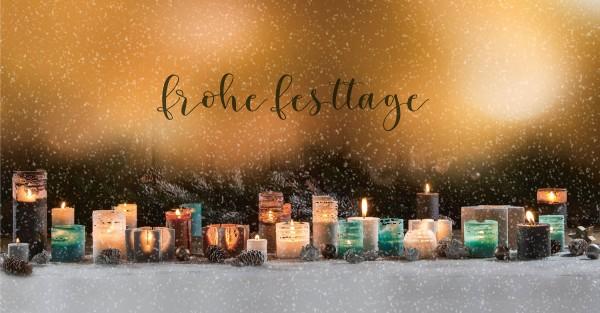 Weihnachtskarte - Schneegestöber