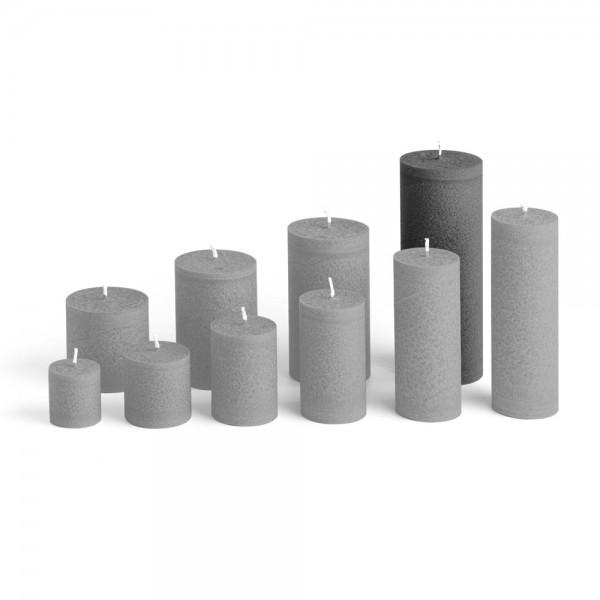 E17527 - Blockkerze anthrazit, Durchmesser 65mm, Höhe 175mm