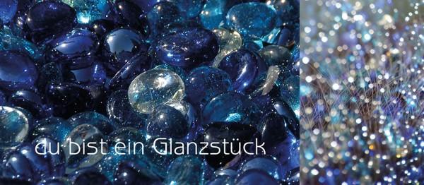 910707 - Windlicht (3 Stk.): Du bist ein Glanzstück (Glassteine)