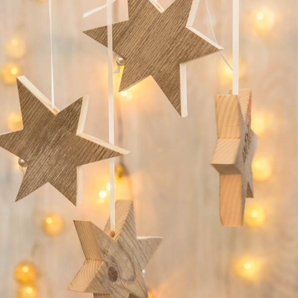 Weihnachtskarte - Holzsterne
