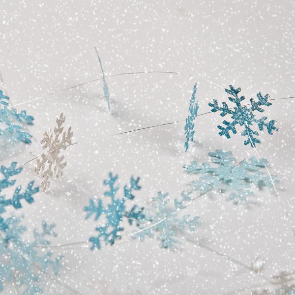 Schneegestöber Girlande zum Biegen