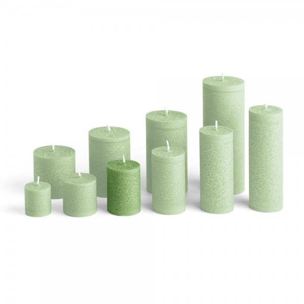 D07024 - Blockkerze tannengrün, Durchmesser 50mm, Höhe 70mm