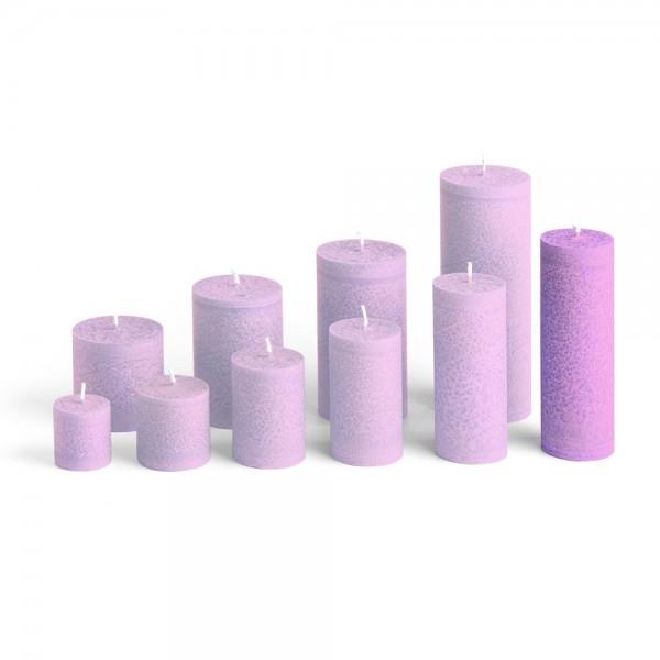 D15010 - Blockkerze violett, Durchmesser 50mm, Höhe 150mm