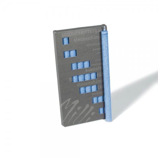 P19009 - Partykerzen Milli, marineblau, Durchmesser 12mm, Länge 190mm