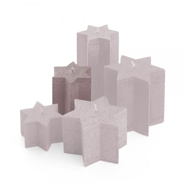 K11025 - Sternkerzen sand, ⌀100mm, Höhe 110mm