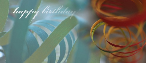 910930 - Windlicht (3 Stk.): happy birthday (Kringel blau-rot)
