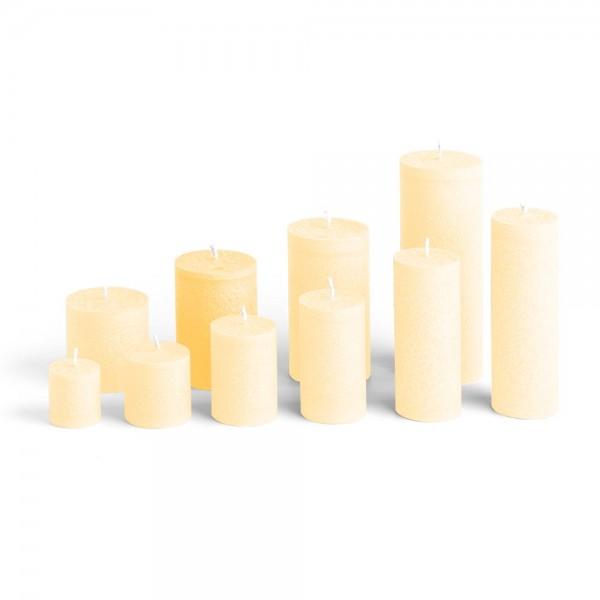 E09521 - Blockkerze crème, Durchmesser 65mm, Höhe 95mm