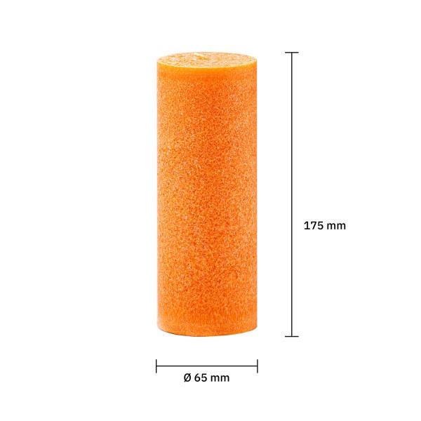 Blockkerze orange