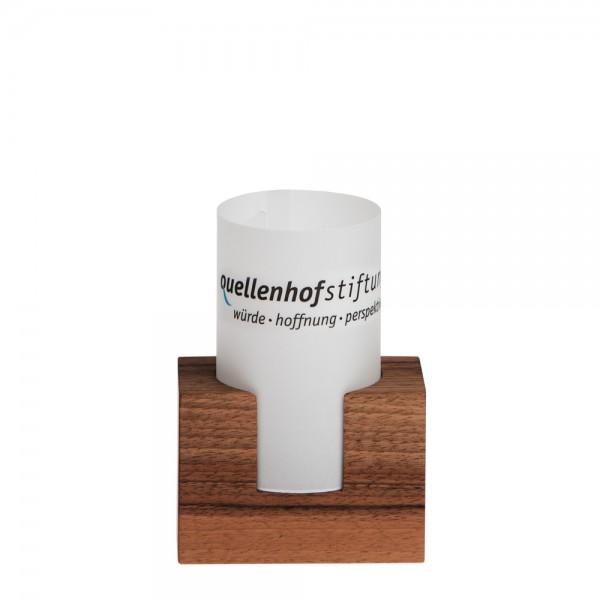 Rechaud-Kerzenständer mit Windlicht - mini
