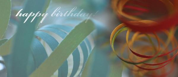 910830 - Windlichtkarte: happy birthday (Kringel blau-rot)
