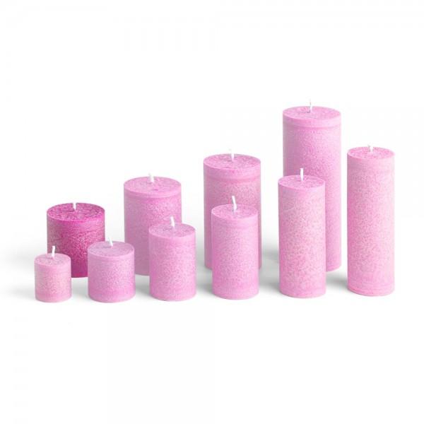 E06513 - Blockkerze pink, Durchmesser 65mm, Höhe 65mm
