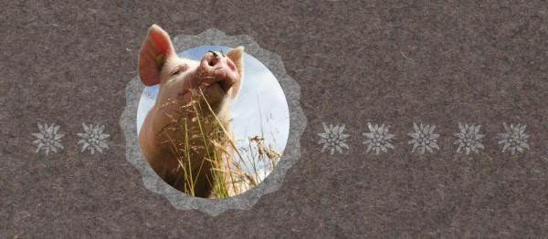 910963 - Windlicht Urchig - Schweinchen