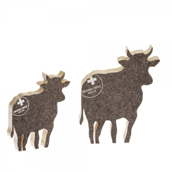 911655 - Kuh zum Aufstellen (2-tlg.) klein/gross - Filz