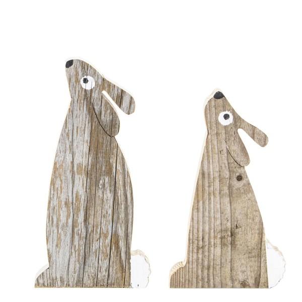 Duo Häsli aus Recyclingholz