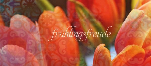 910843 - Windlichtkarte: frühlingsfreude… (Tulpen orange)