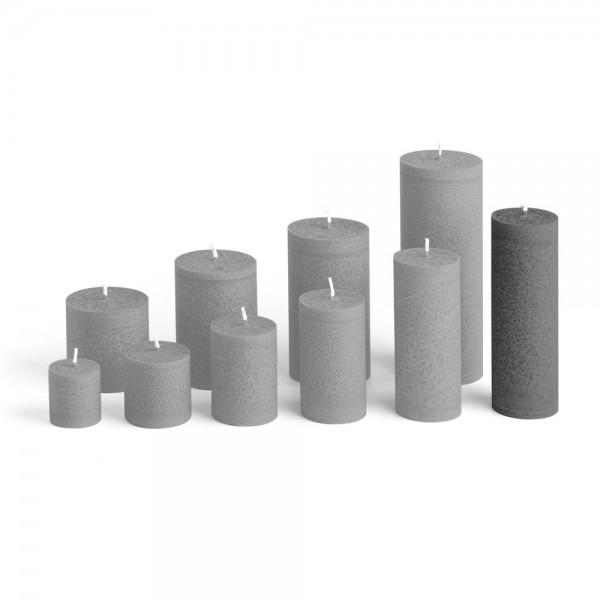 D15027 - Blockkerze anthrazit, Durchmesser 50mm, Höhe 150mm