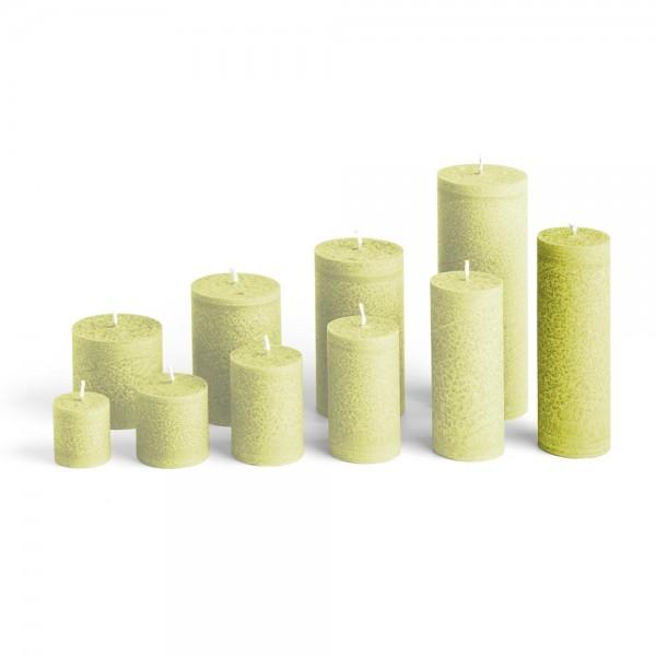 D15023 - Blockkerze hellgrün, Durchmesser 50mm, Höhe 150mm
