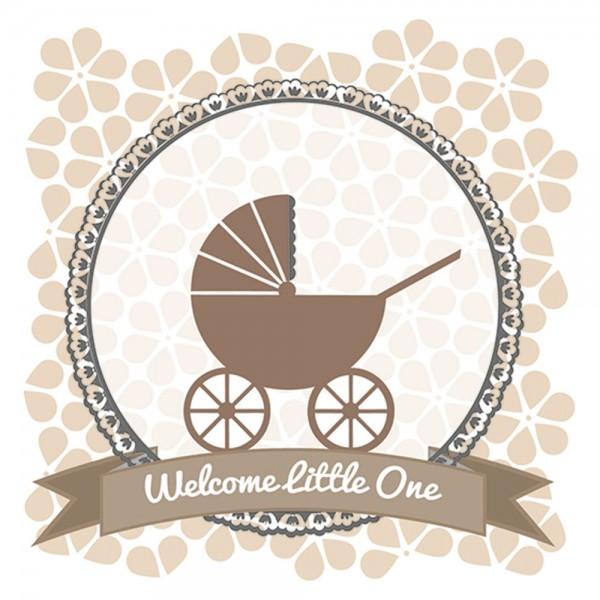 910451 - Perlenkarte Baby-braun
