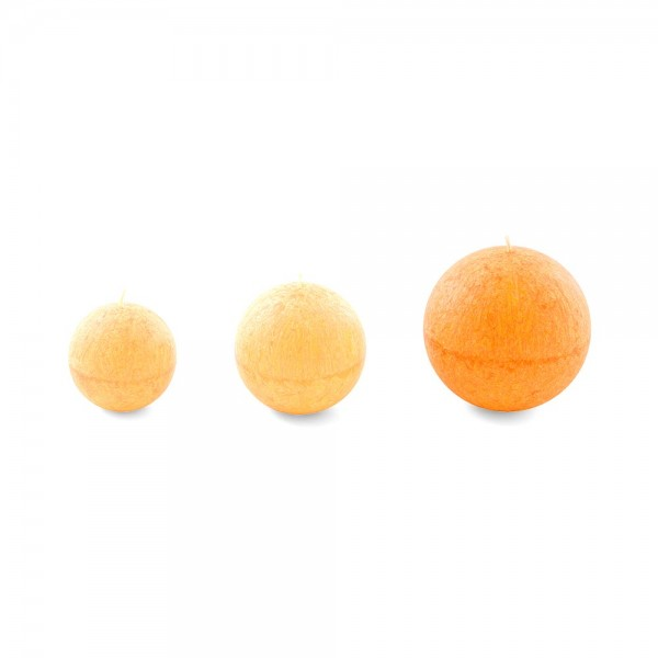 R10018 - Kugelkerze orange, Durchmesser 100mm