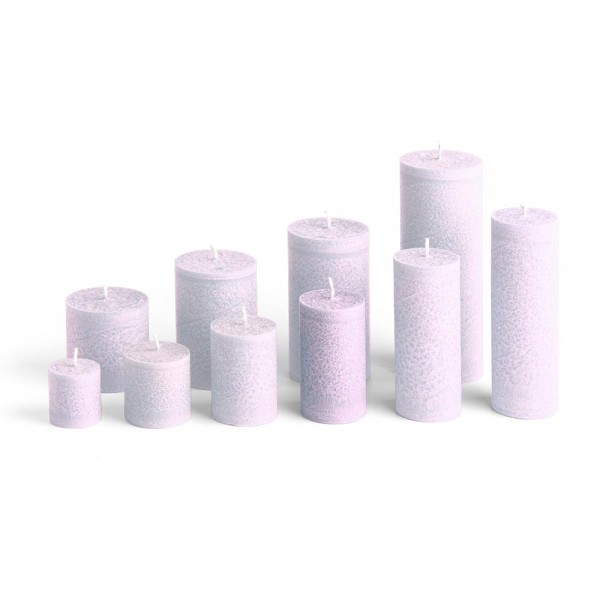 D09011 - Blockkerze lila, Durchmesser 50mm, Höhe 90mm